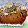 کاریکاتور علت غرق شدن کشتی نوح